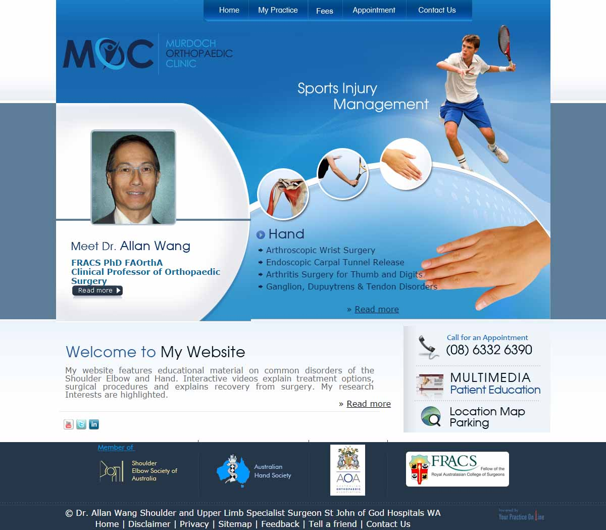 Orthopaedic Shoulder Hand Surgery Website