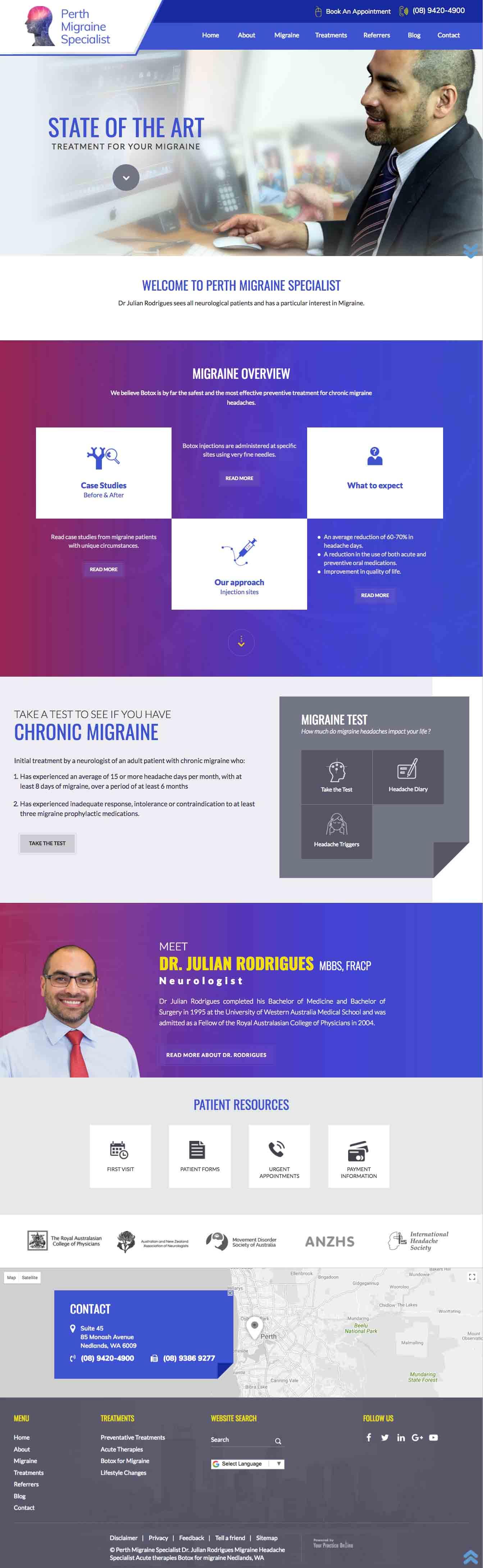 Perth Neurologist Migraine Specialist Website