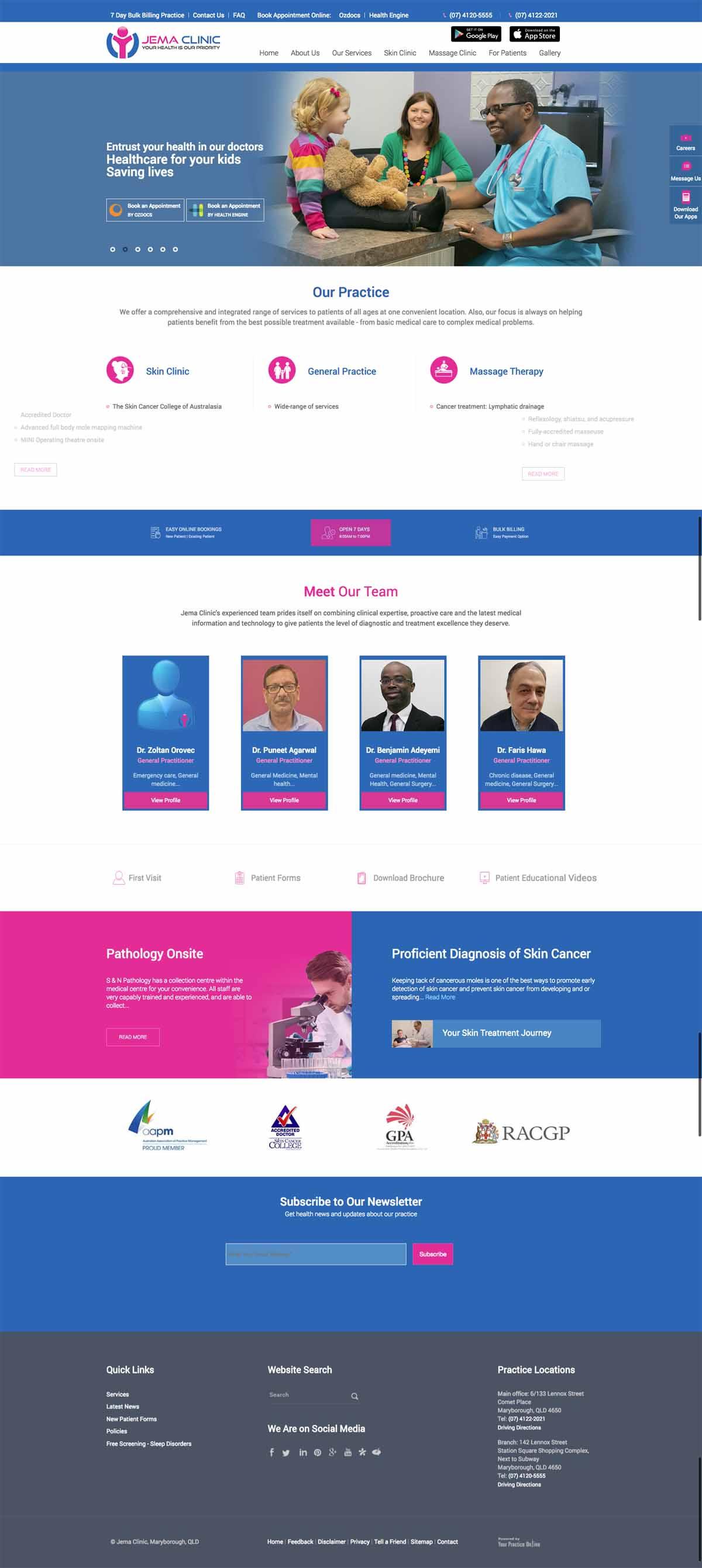 General Practice Medical Centre Website