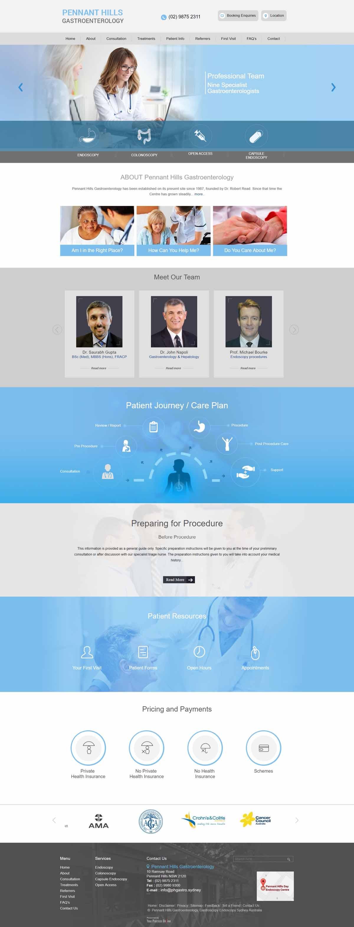 Sydney Gastroenterology General Surgeons Website