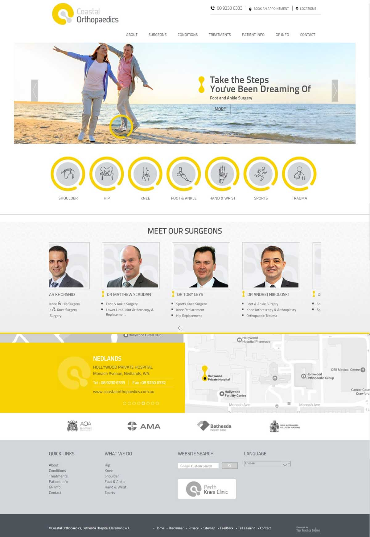 Website Redesign for Foot & Ankle Surgeons Perth