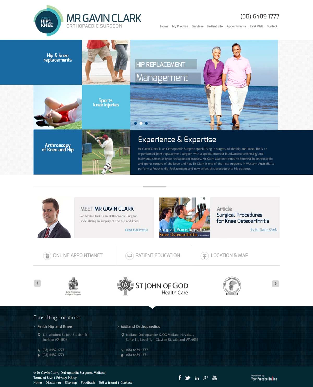 Perth Orthopaedic Surgeon Hip & Knee Website