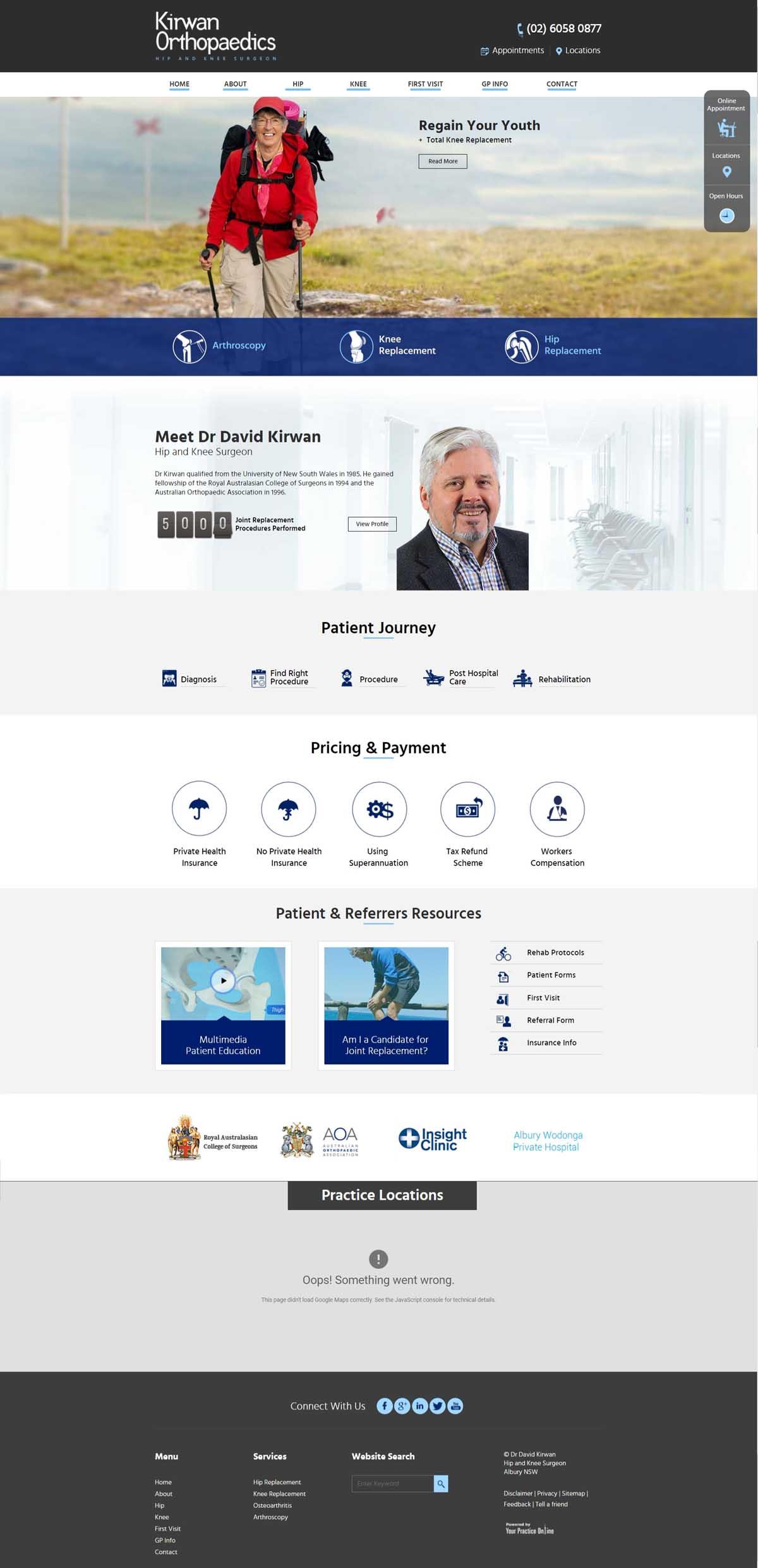 Perth Orthopaedic Surgeon Hip & Knee Website