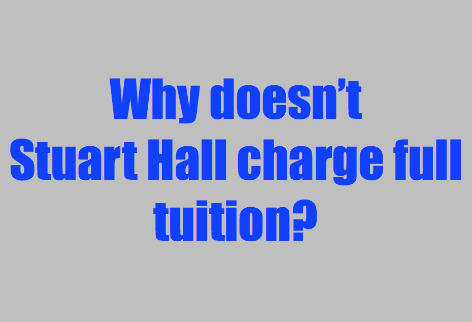 High tuition drastically reduces the applicant pool and admissions suffer as a result. If tuition were raised to cover the cost of all programs, many families could not afford a Stuart Hall education. This would mean a drop in enrollment, a cut back in programs, and large tuition increases to fund operations.