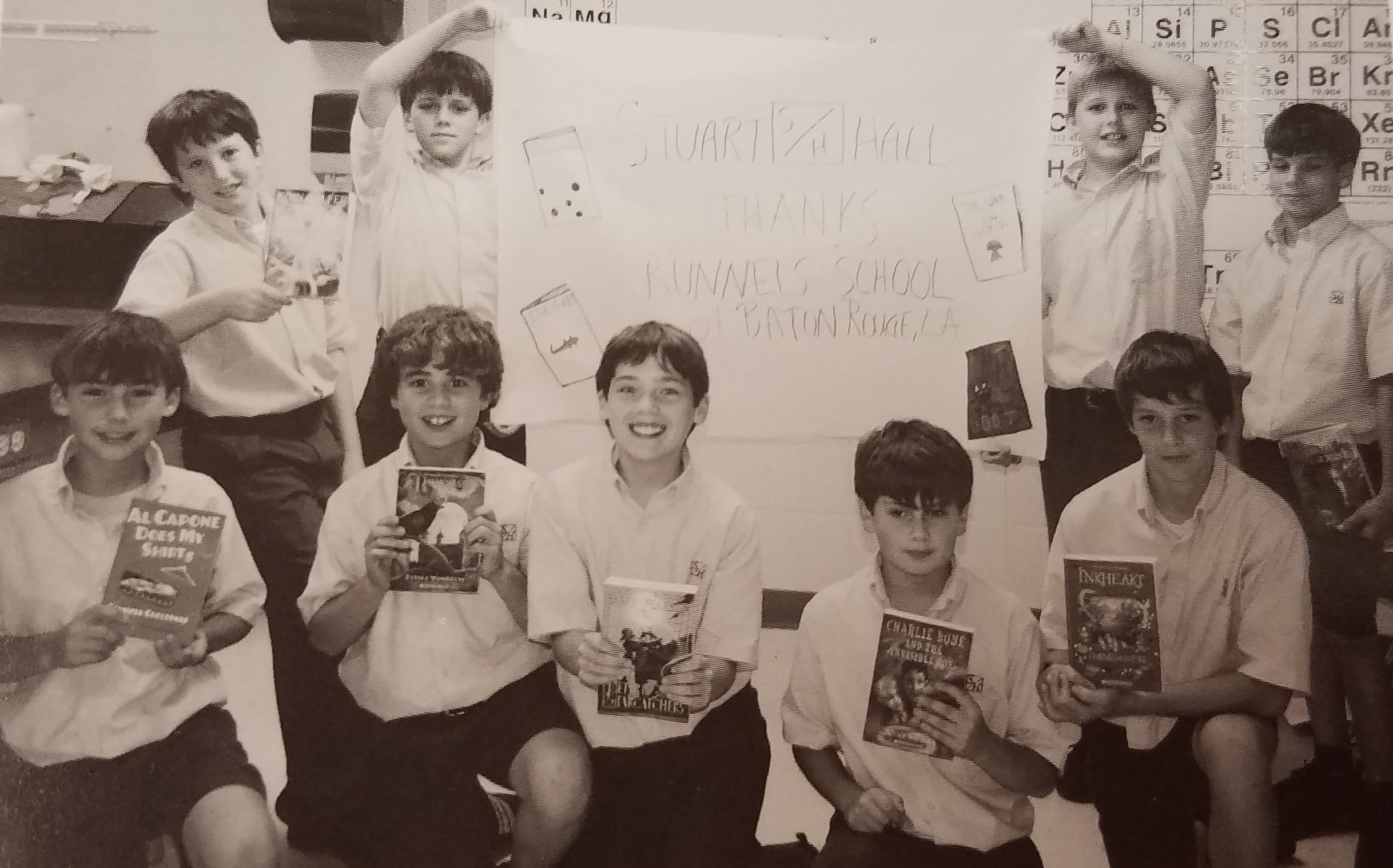 When Stuart Hall reopened in November 2005 following Hurricane Katrina, Runnels' students and faculty donated a collection of books for the Fifth and Sixth Grade classroom libraries, which had been destroyed when our campus was flooded.