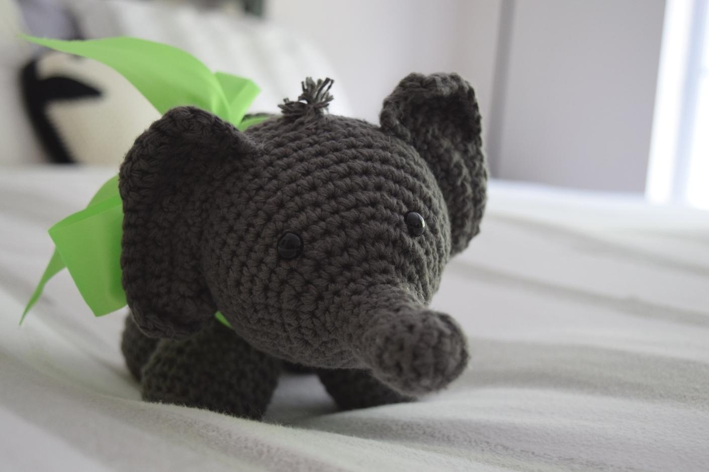 Faux Taxidermy, Crochet Pattern, Crochet Elephant, Crochet ... | 667x1000