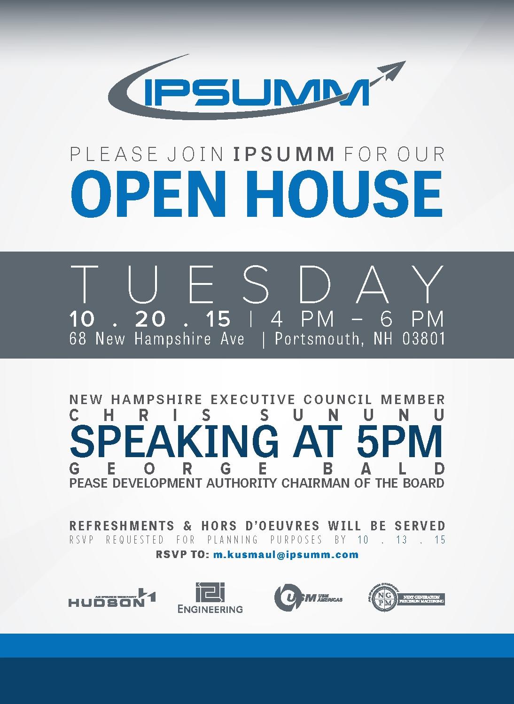 IPSUMM Open House Invitation