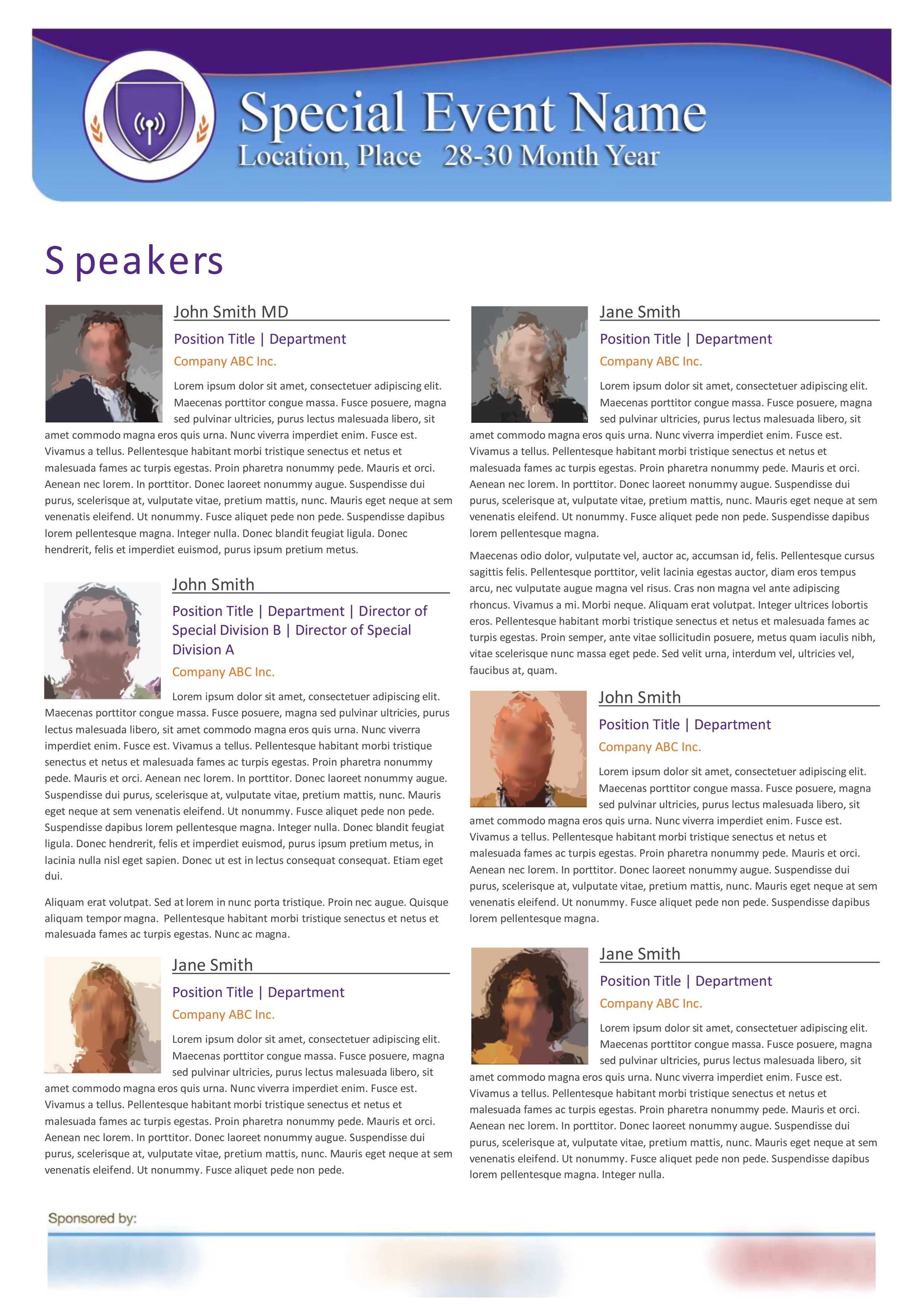 Event Speakers