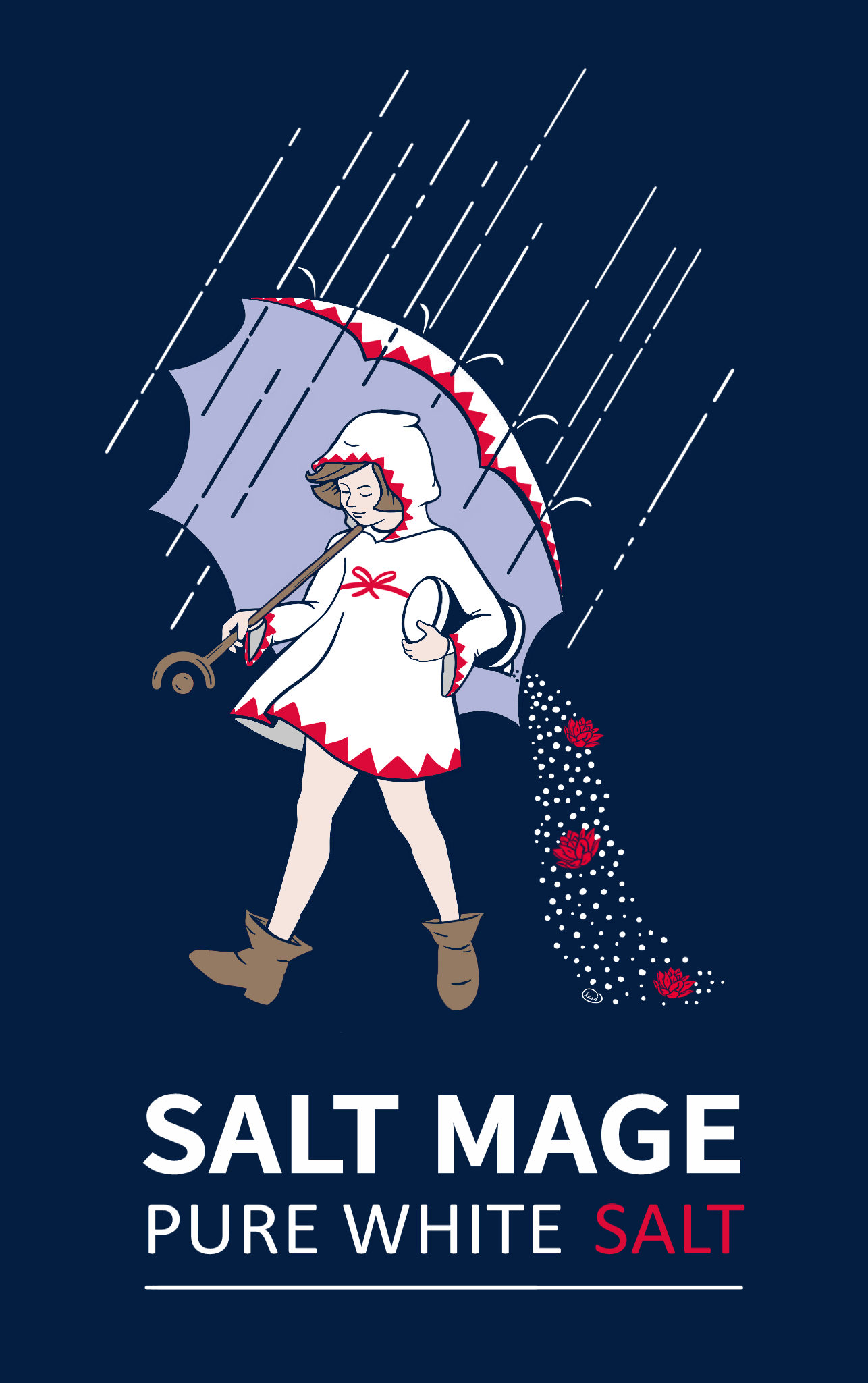 Embrace theSALT MAGE - The White Mages of the world aren't happy! How unhappy? You might say they're salty! Expressing my inner salt mage with this iconic image Click through for your very own salt-ily branded stuff! Or get something for that special salt mage in your life. Stay salty!