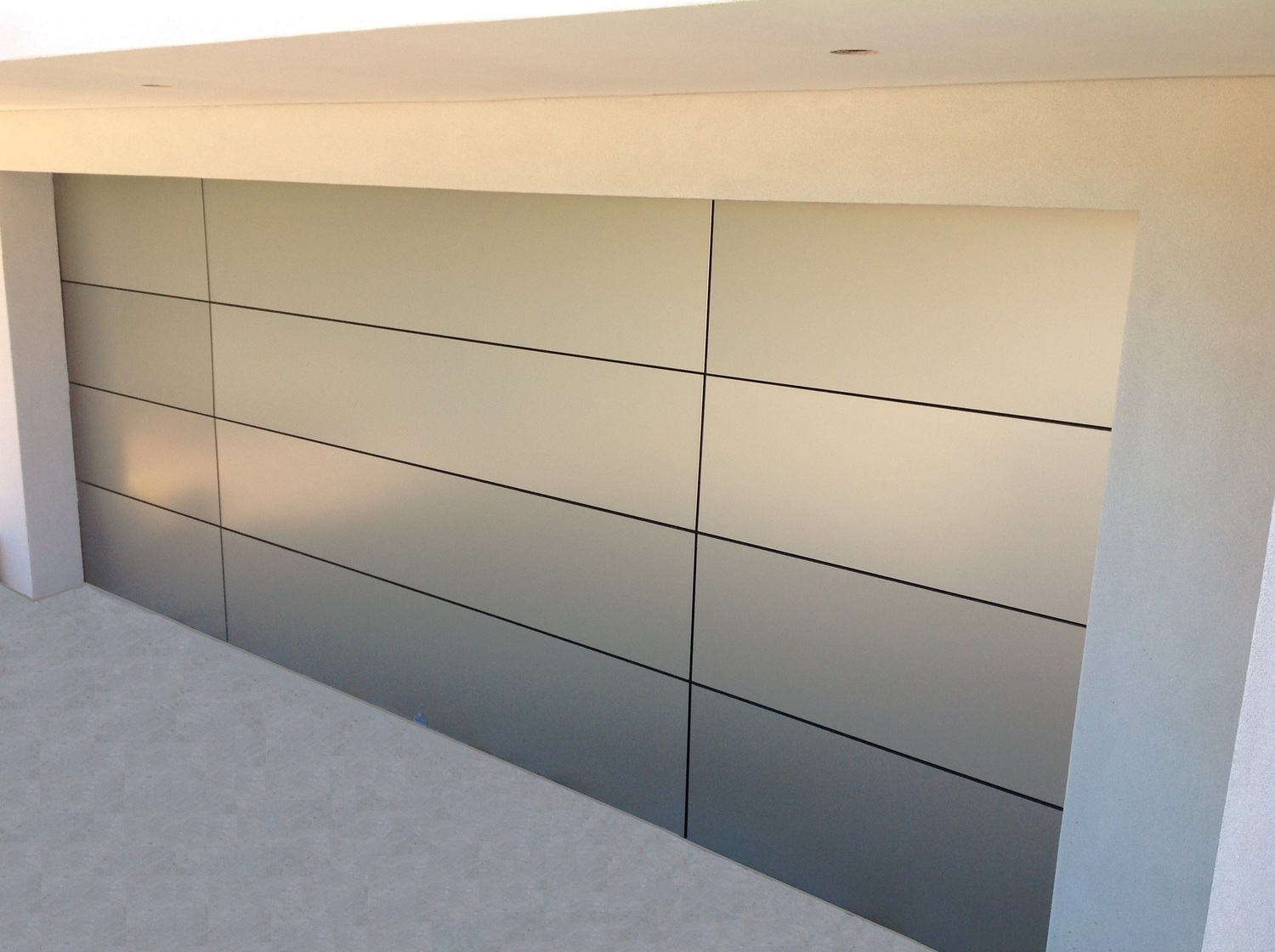 Aluminium Composite Sectional Overhead Door (one click on image to enlarge)