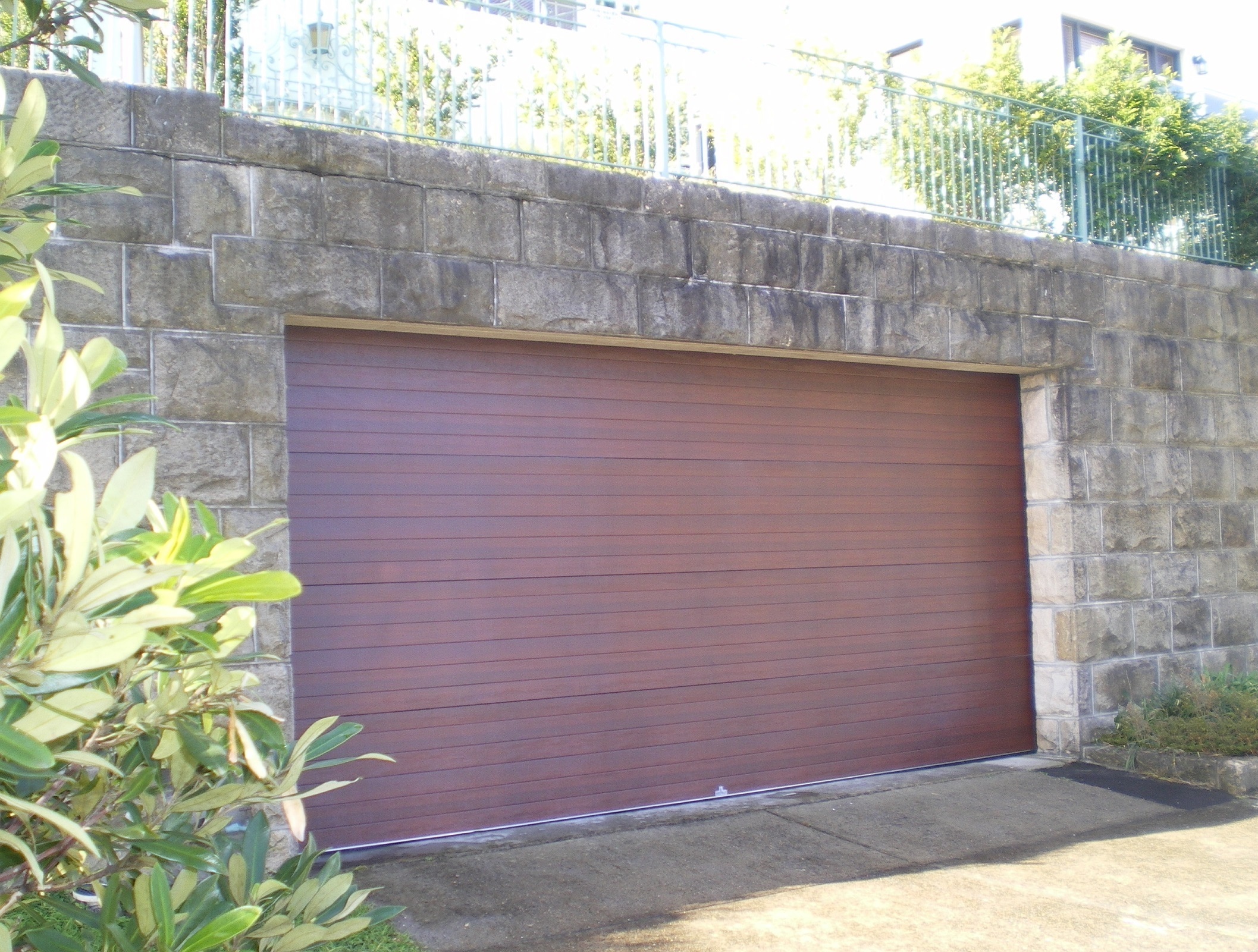 "Mediterranean ""Colourgrain"" Caoba Sectional Door (one click on image to enlarge)"