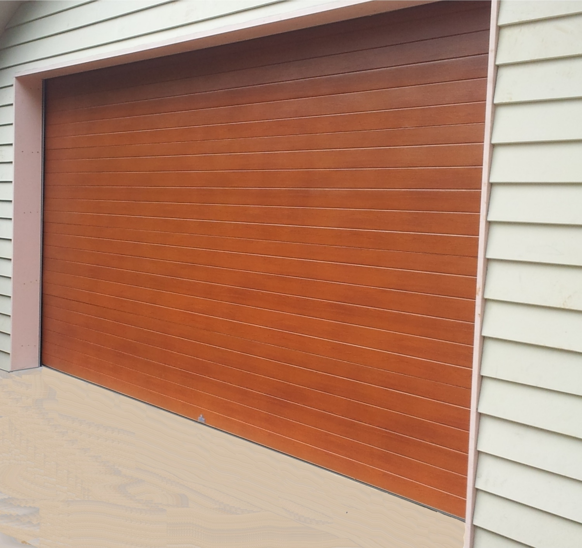 "Mediterranean ""Knotwood"" Australian Cedar Sectional Door (one click on image to enlarge)"