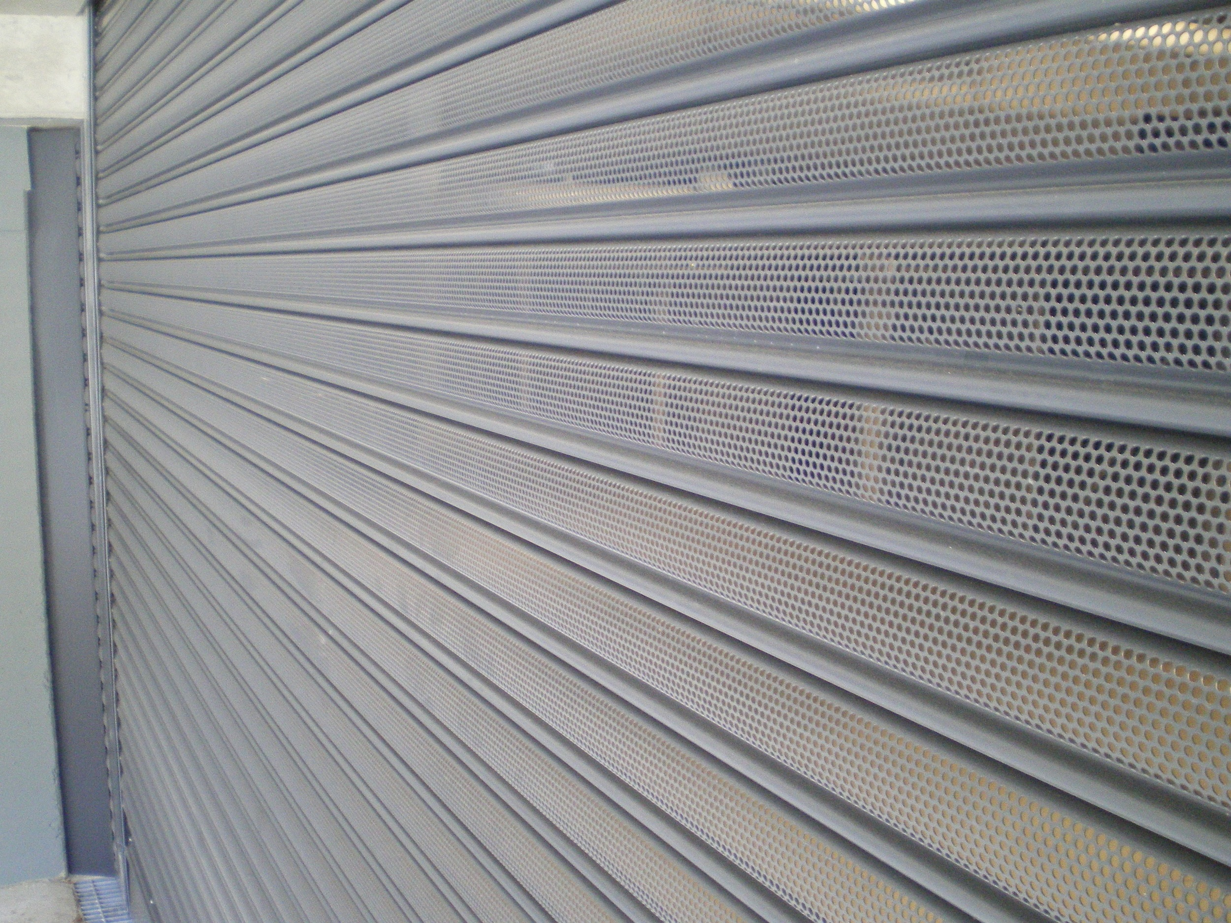 Perforated Powder Coated Roller Shutter (one click on image to enlarge)