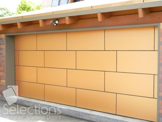 Alumicomp composite door - brick pattern (click on image to enlarge)