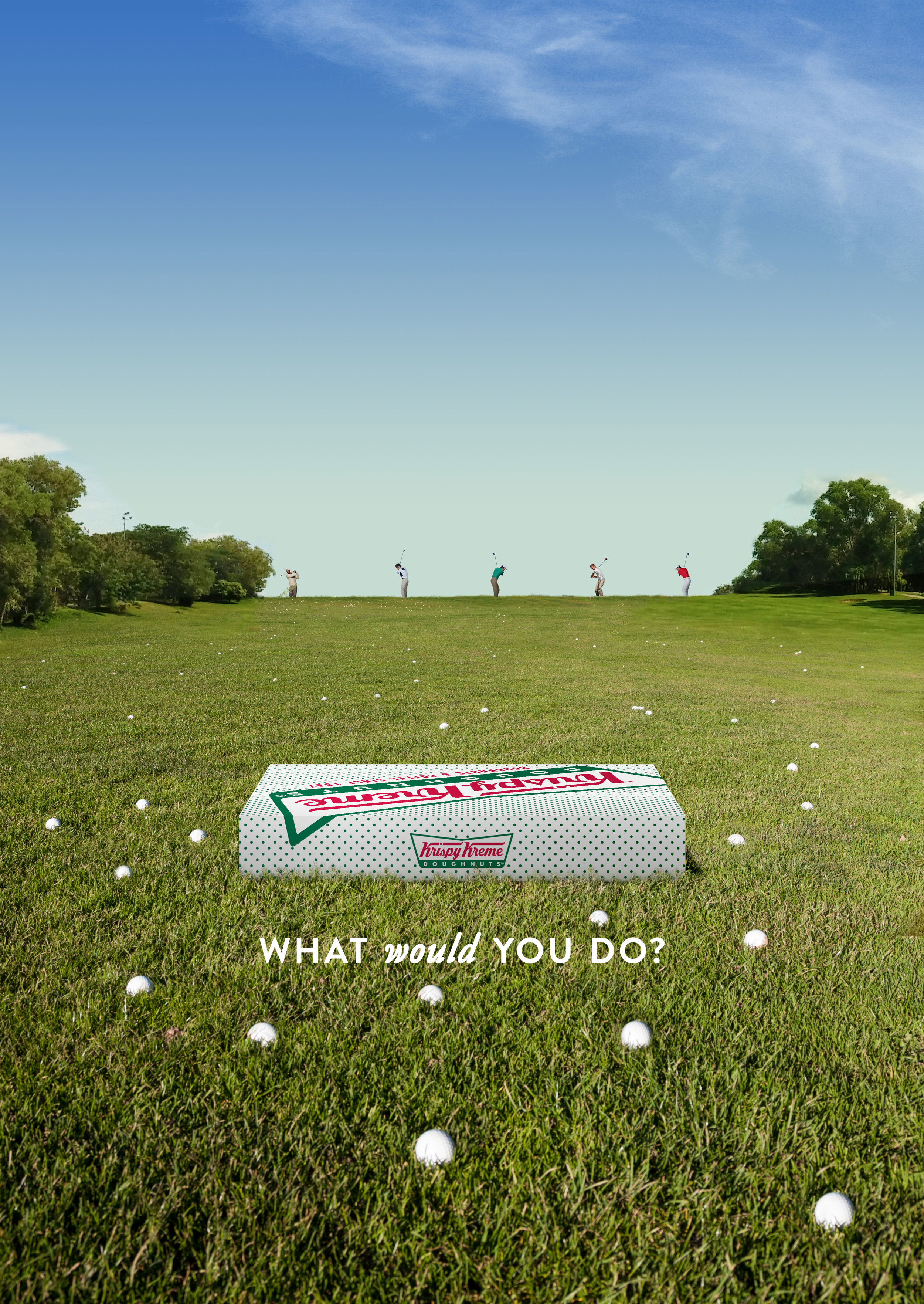 Would you risk getting hit by flying golf balls on a driving range for a doughnut?