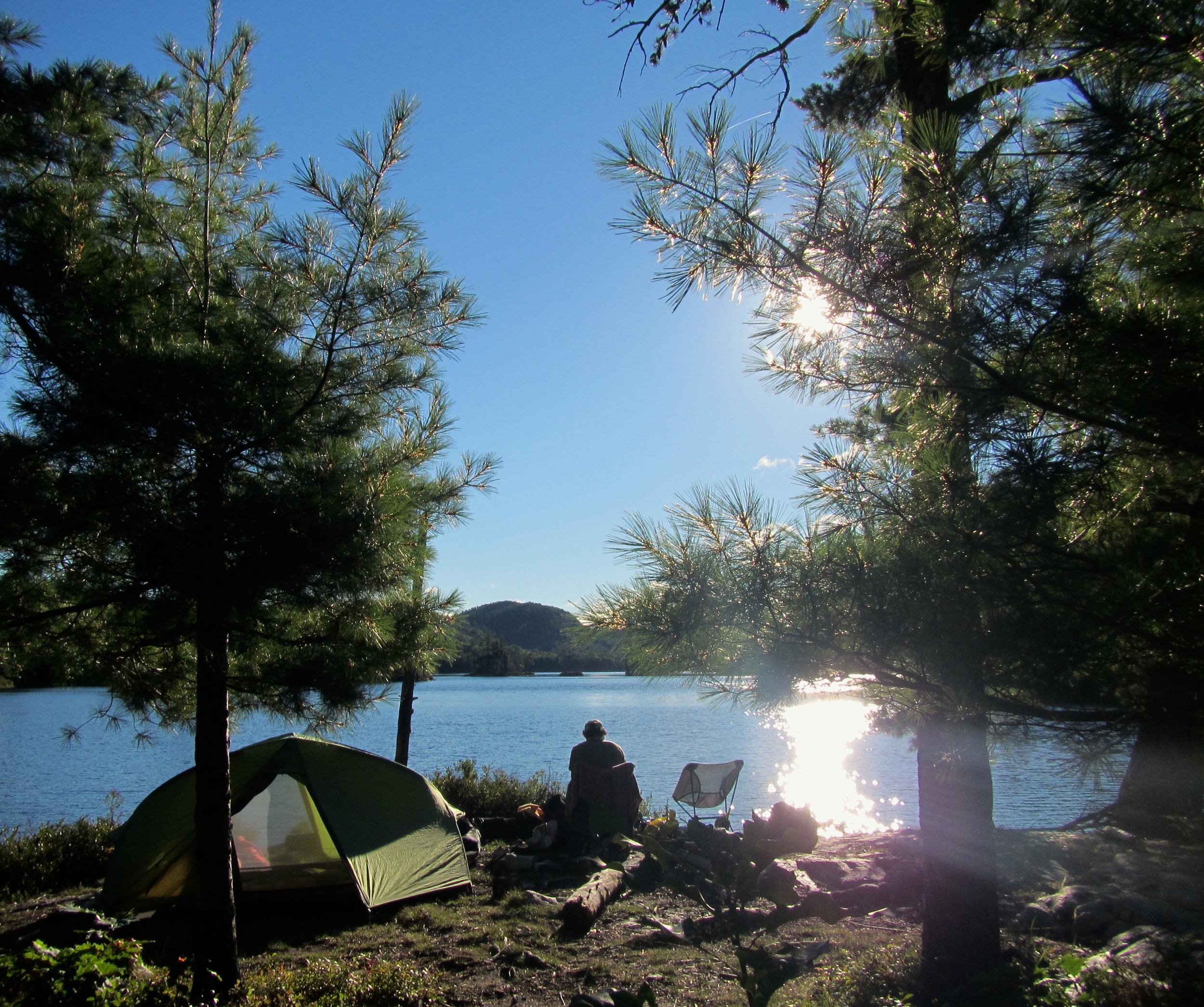 Breakfast on Carmichael's favourite camp site on Grace Lake.