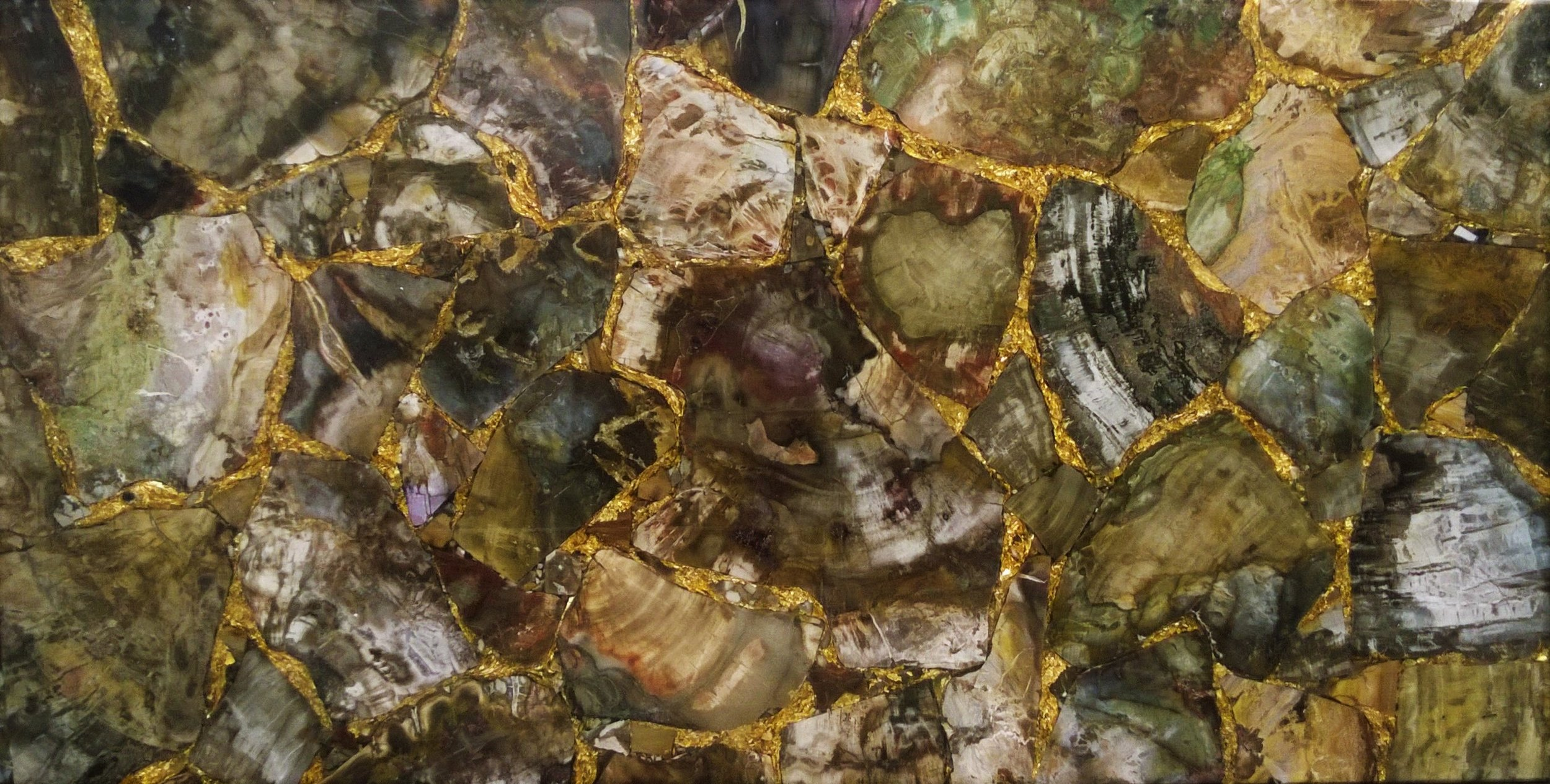 Petrified Wood with Gold