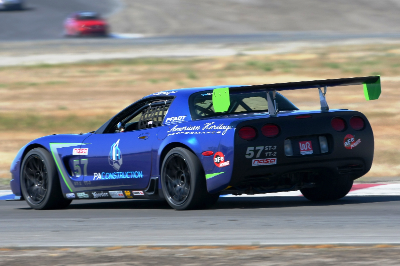 The #57 PA Construction Corvette testing out its new ST-2 tune.