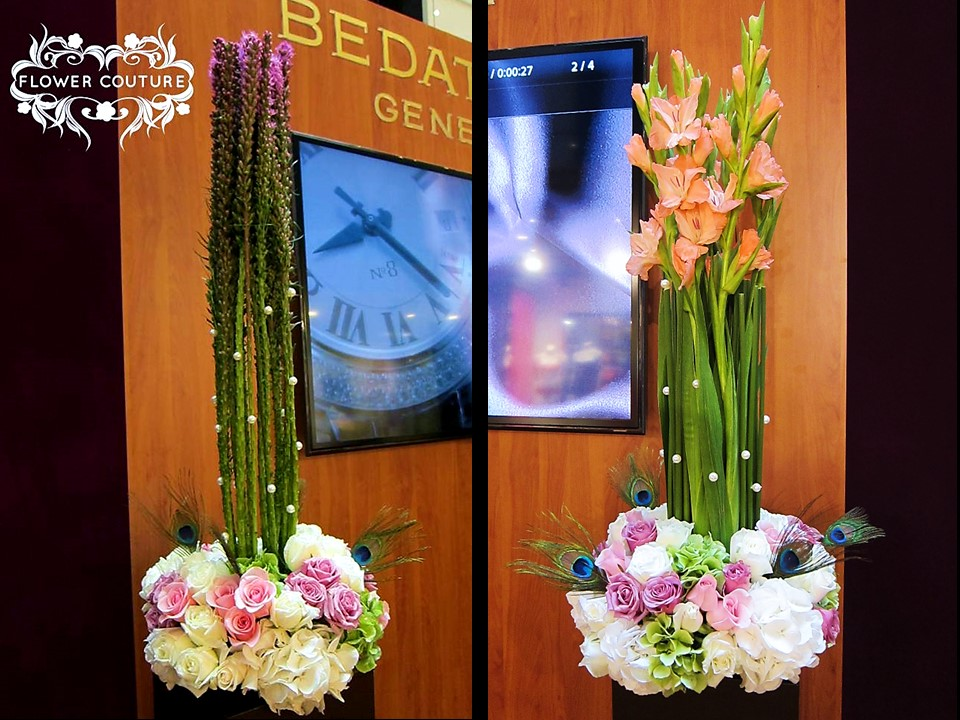 Flower Couture's pearls styling