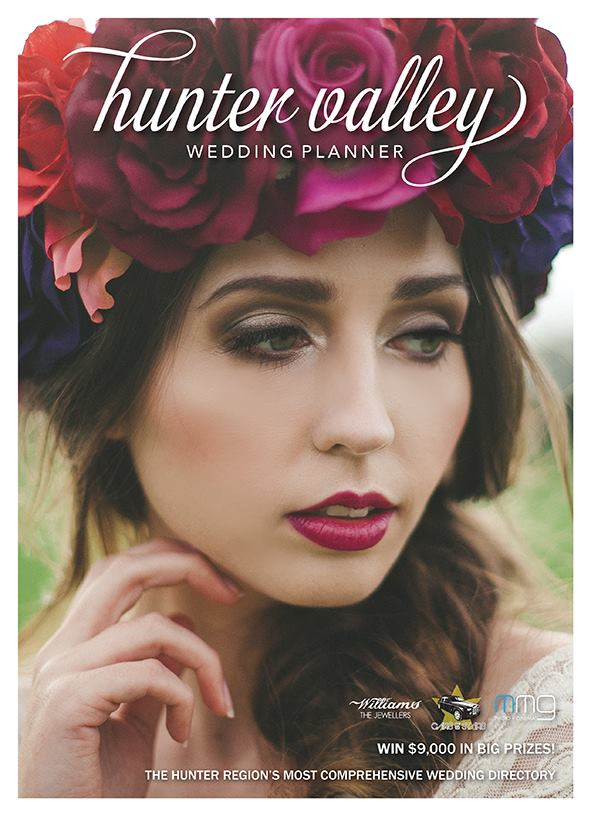 FEATURED  - FRONT COVER OF HUNTER VALLEY WEDDING PLANNER MAGAZINE