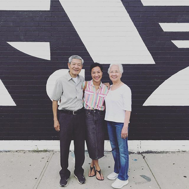 I think my parents finally understand what I do for work. Ha. Khuon Danh and Hue Nguyen in Brooklyn, whaddup. 🖤🖤