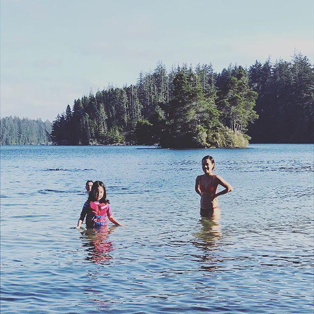 Summer swims. Pre-dip contemplation.
