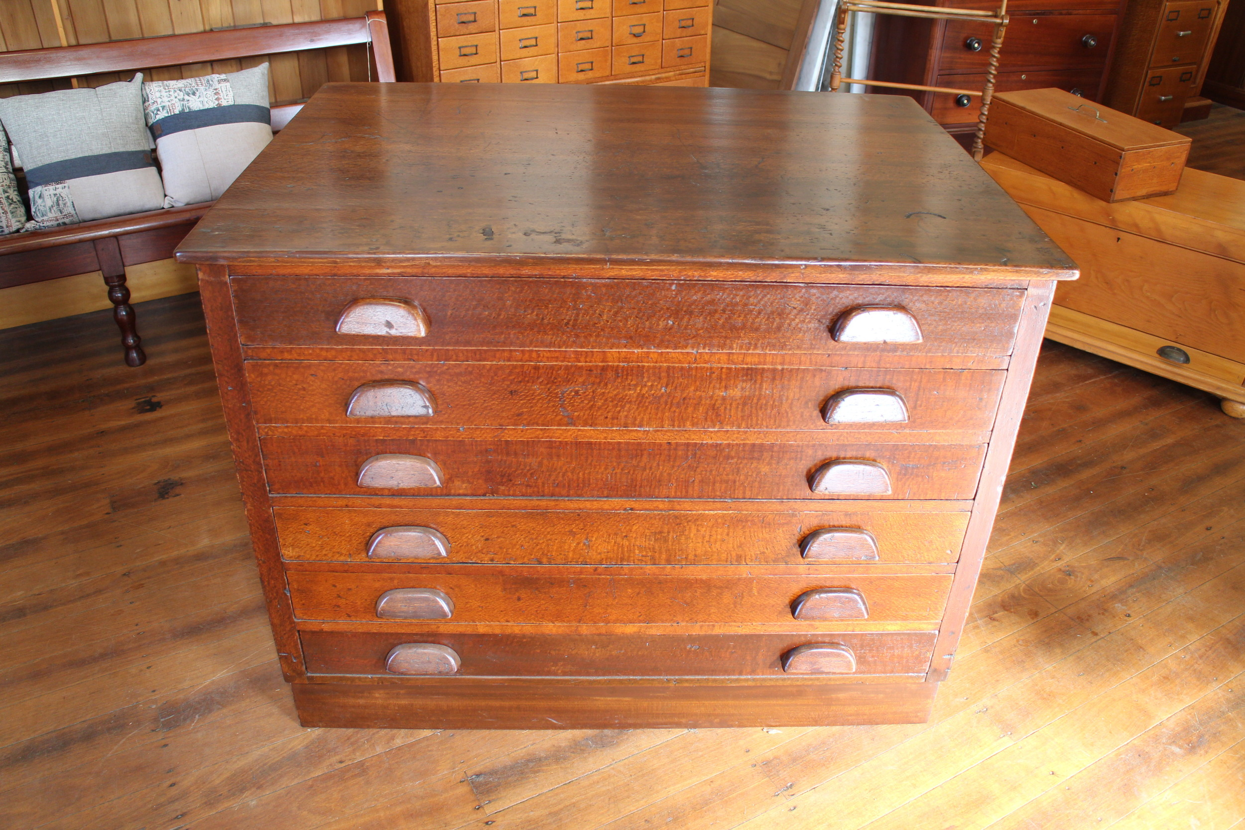 vintage silky oak map drawers.jpg