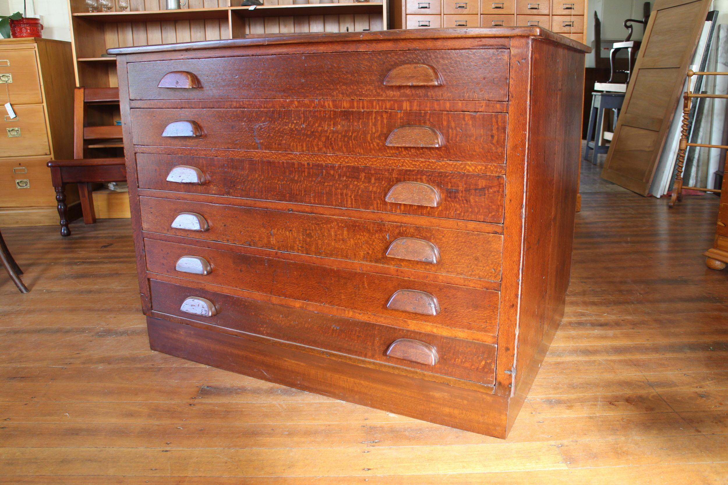 vintage silky oak map drawers 2.jpg