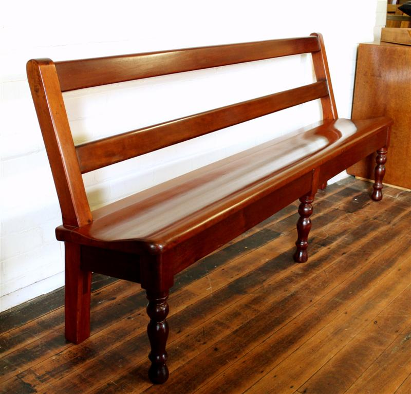 Antique Colonial Cedar Bench seat.jpg