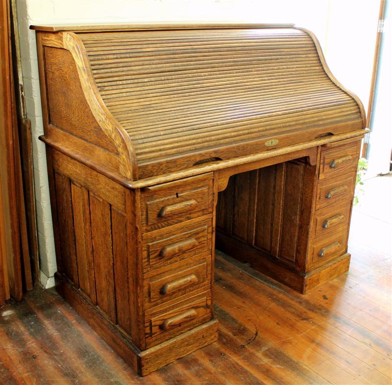 Antique Oak Roll Top Desk.jpg