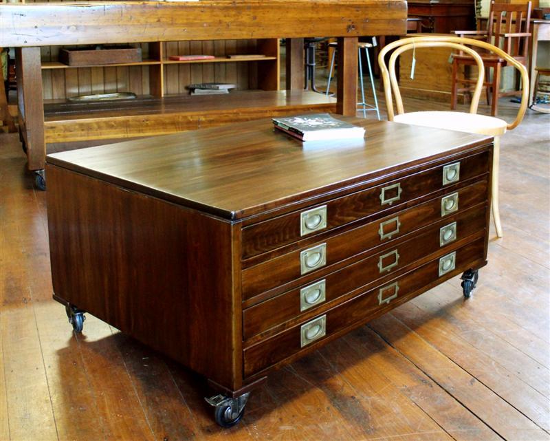 Vintage Map Drawer Coffee Table.jpg