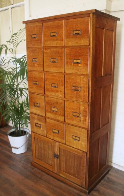 Vintage Tasmanian Oak Filing Drawers 1.jpg