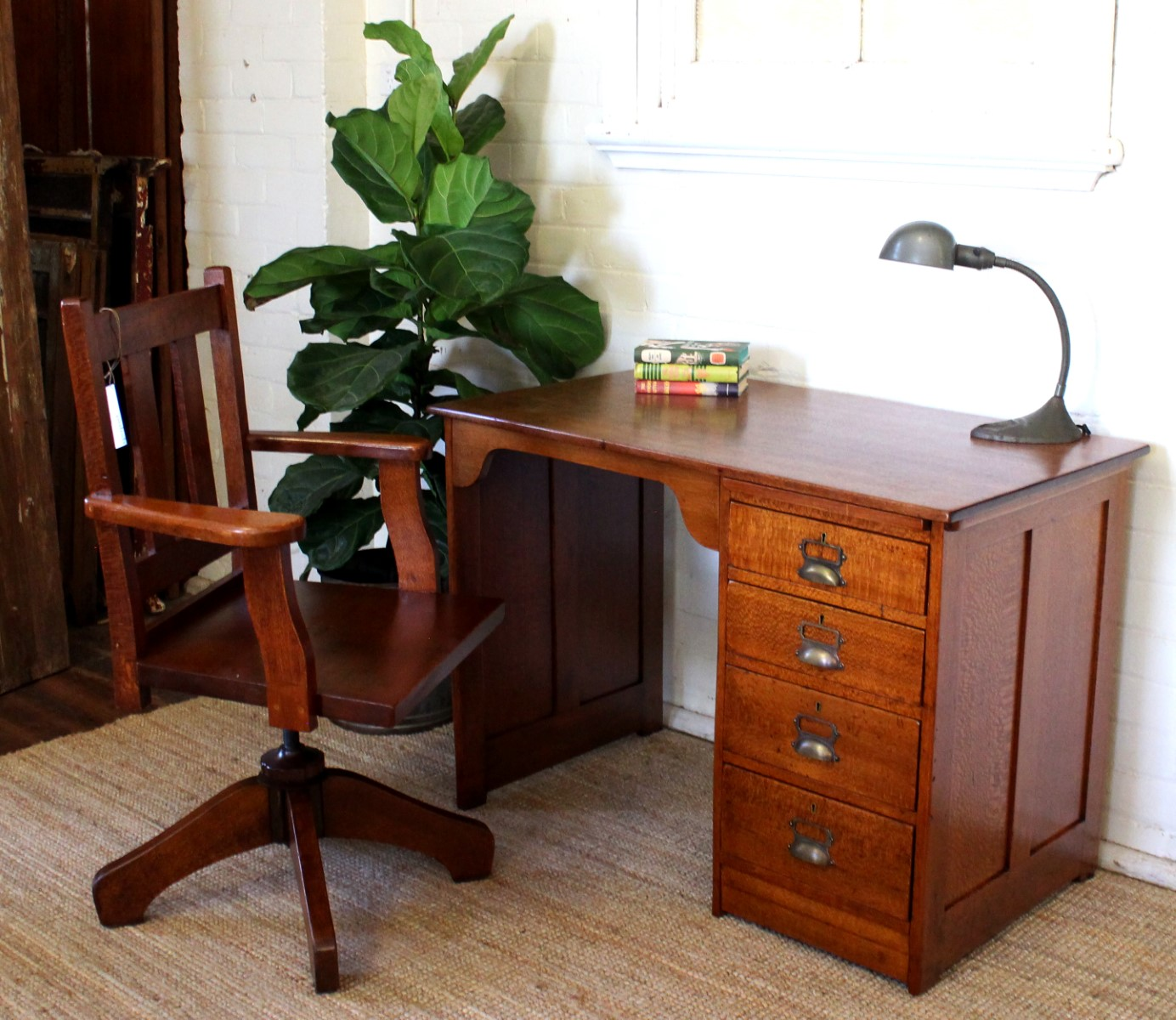Antique Silky Oak Desk.jpg