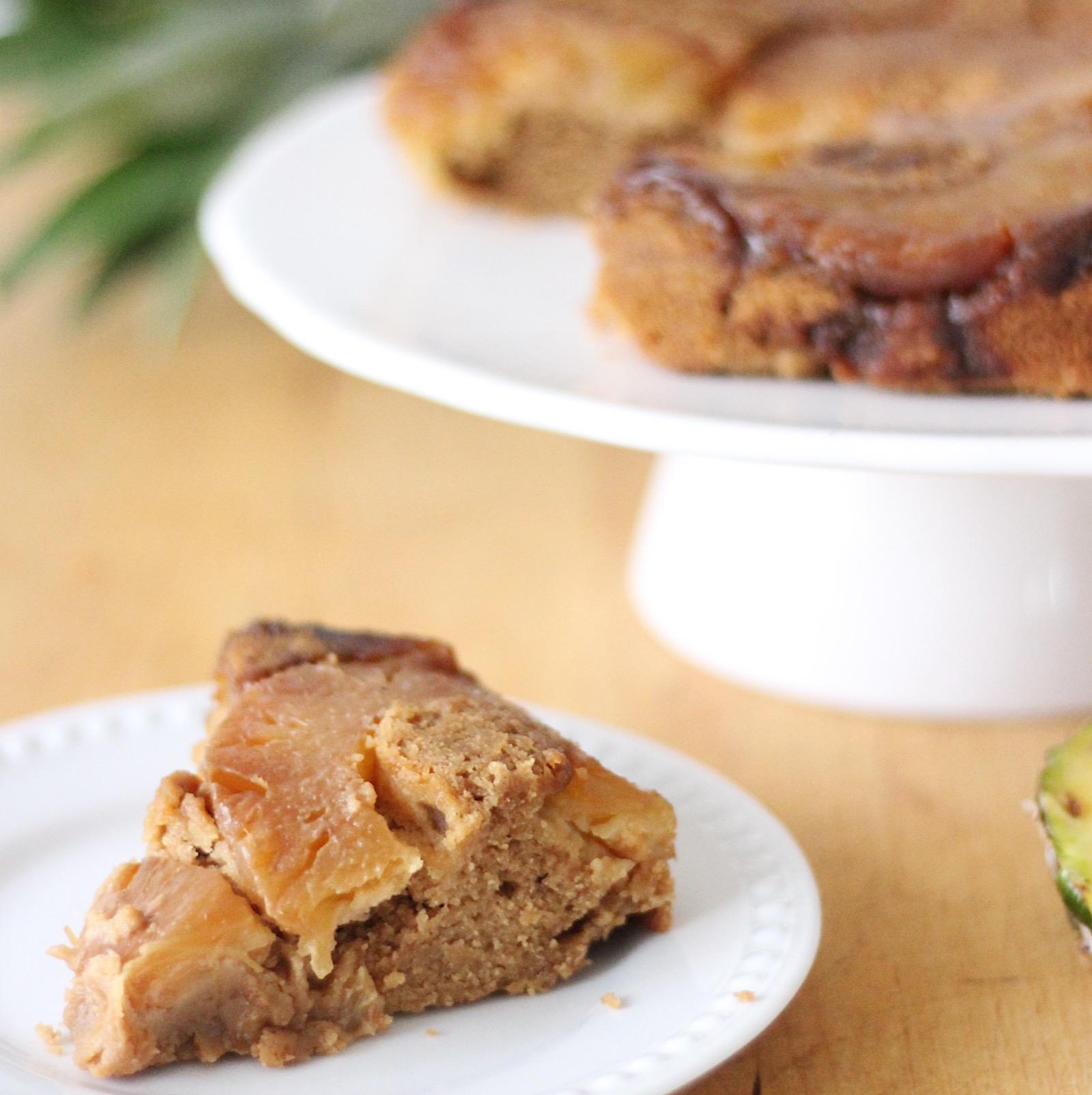 Gluten-free nut-free Paleo pineapple upside down cake