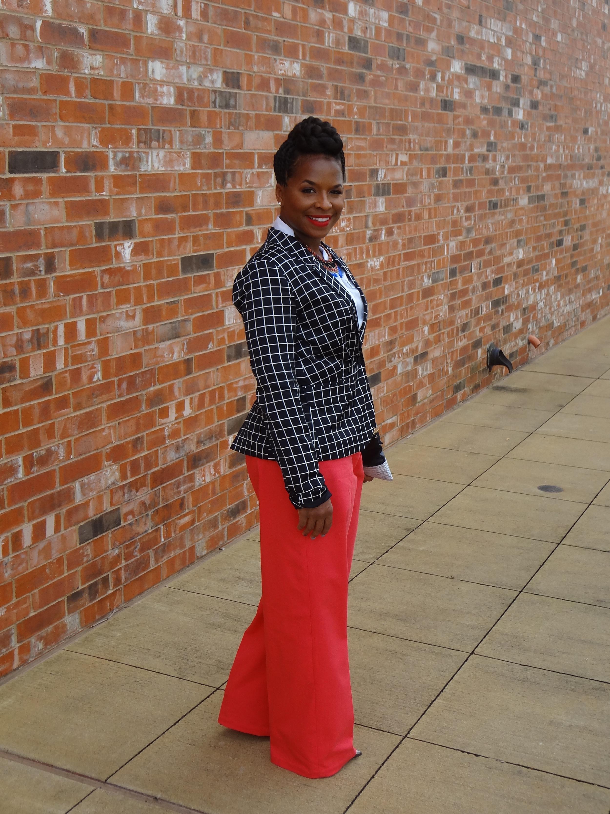 DIY High Waist pants, http://www.3degreesdb.com/3degreesdb-three-generations-blog/2014/3/23/strawberry-red-pants