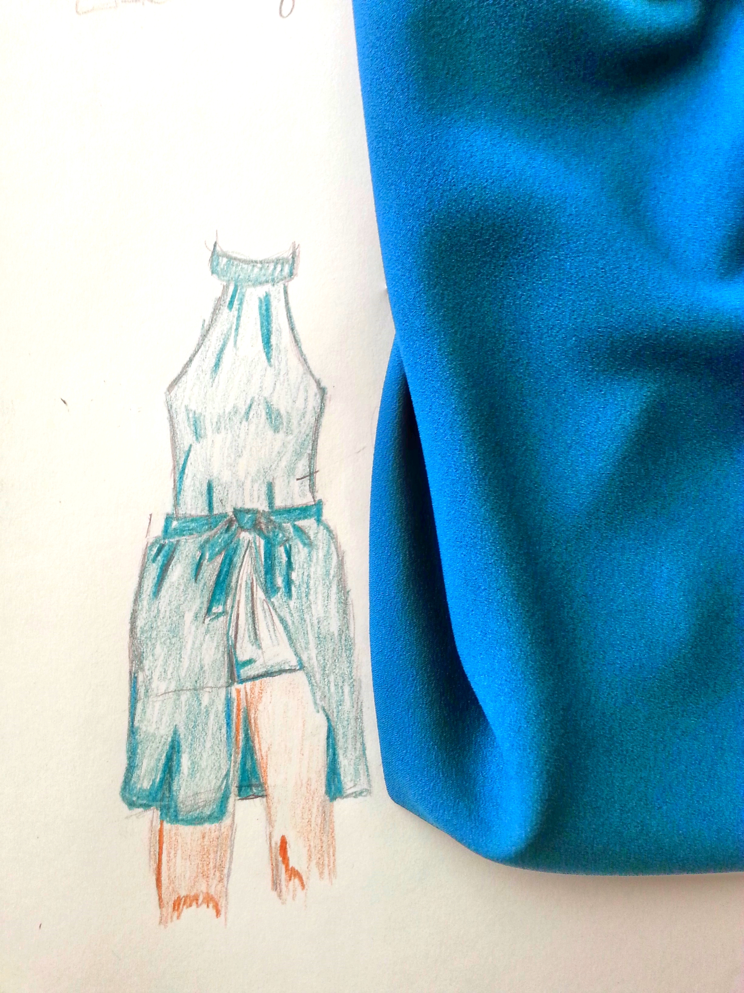 Crepe for S/S Jumpsuit and cover skirt