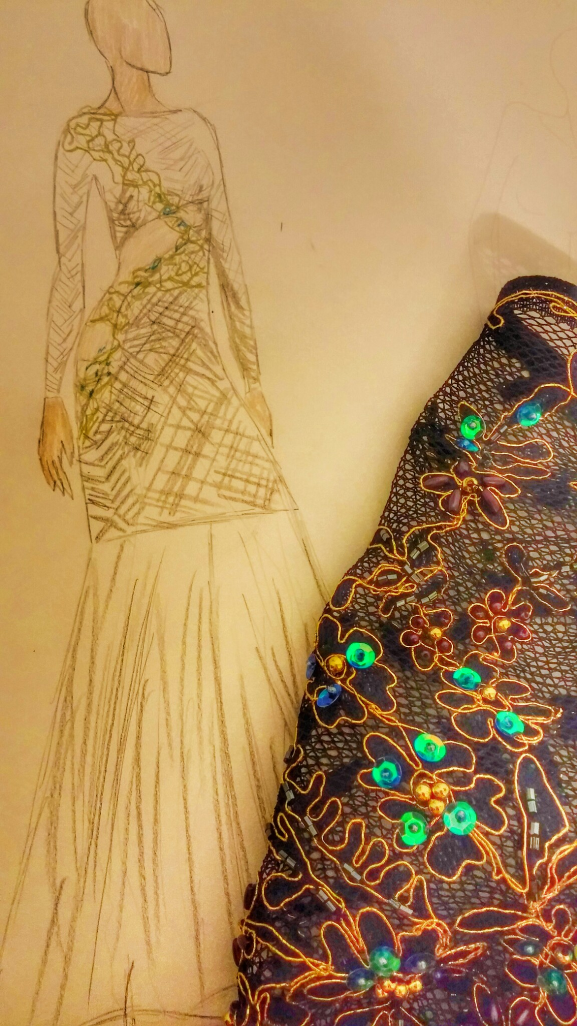 Sketches before making my dress