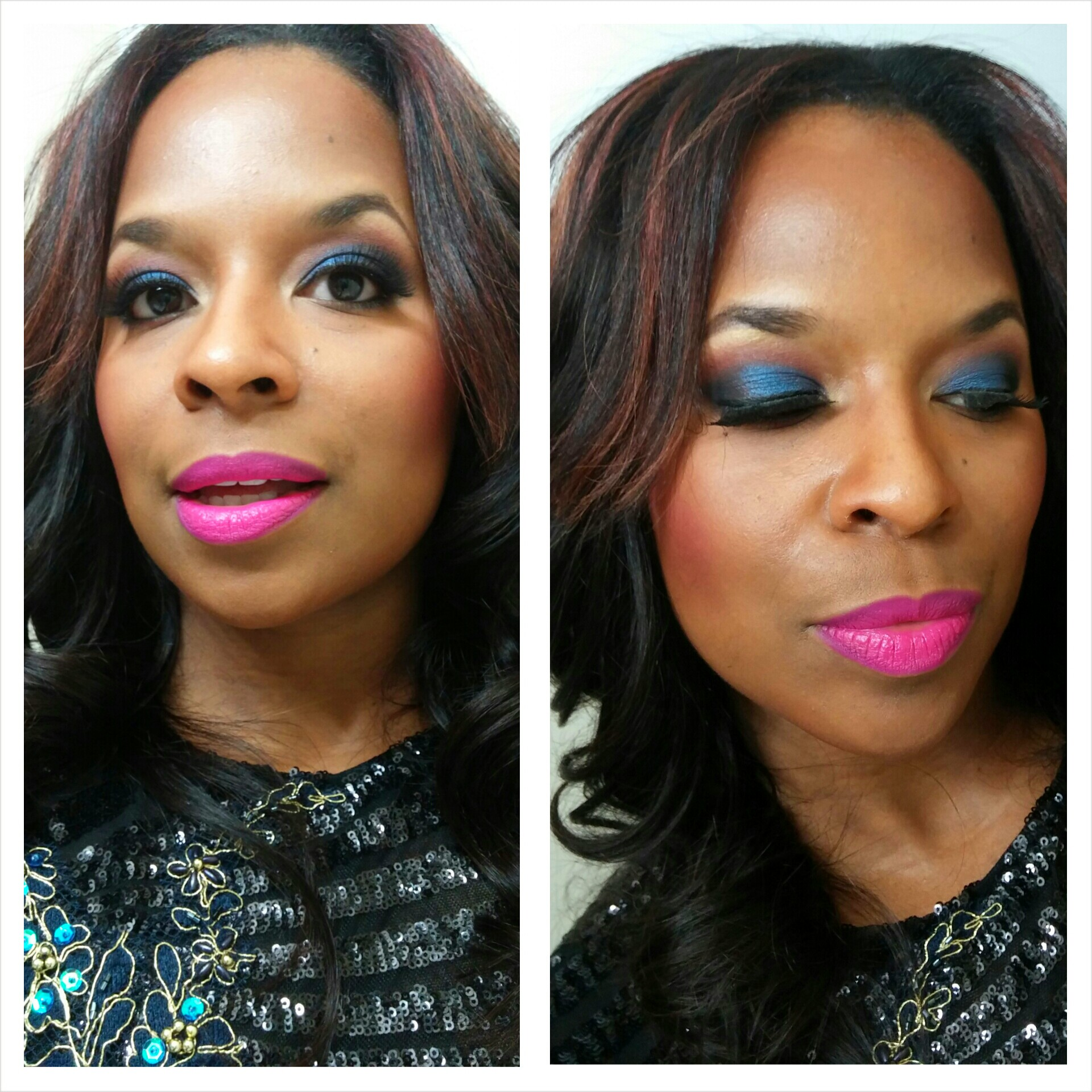 Make-up I did for the night. I love Mac's Candy Yum Yum lipstick.