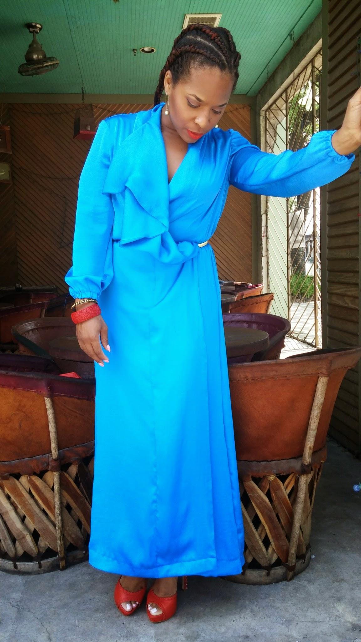 Royal Blue Vogue 8827