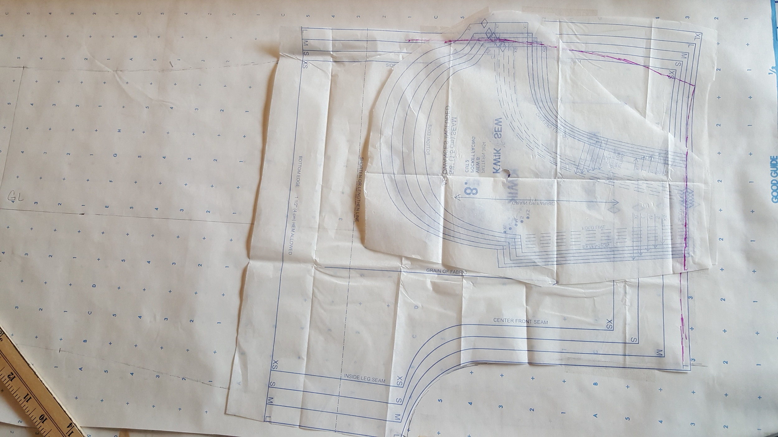 Adding Pocket pattern to fit with drafted Pant patten