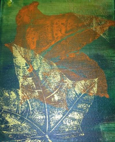 Leaf Prints done by preschoolers (yes, preschoolers)