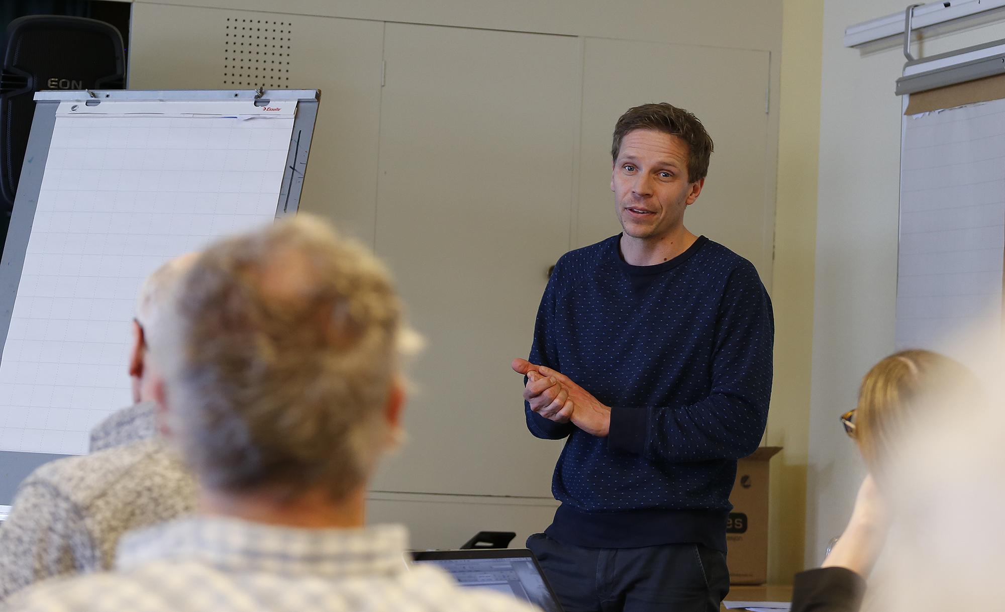 Morten Aas er rådgiver i Oppland fylkeskommune og prosjektleder for prosjektet. Foto: Anders Mossing