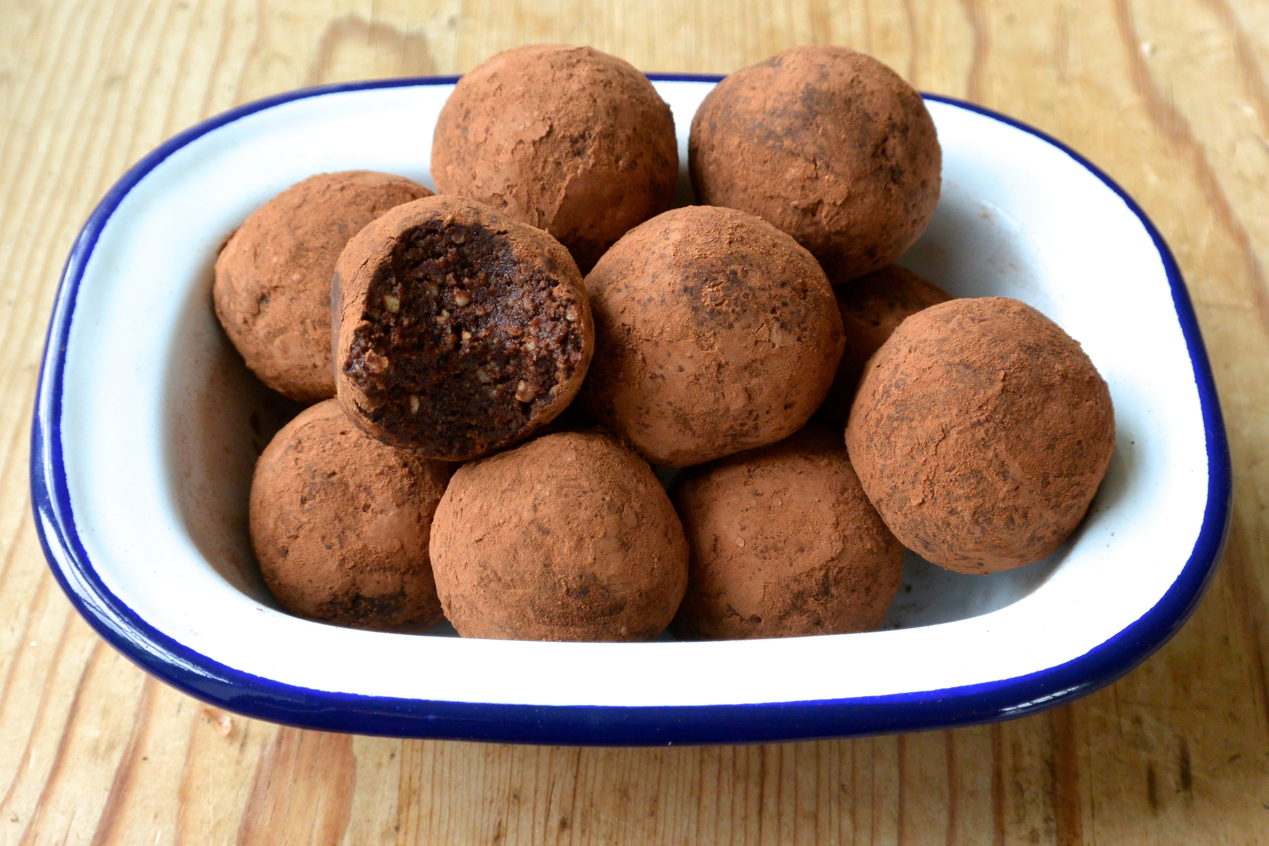 Dark Chocolate and Hazelnut Truffles