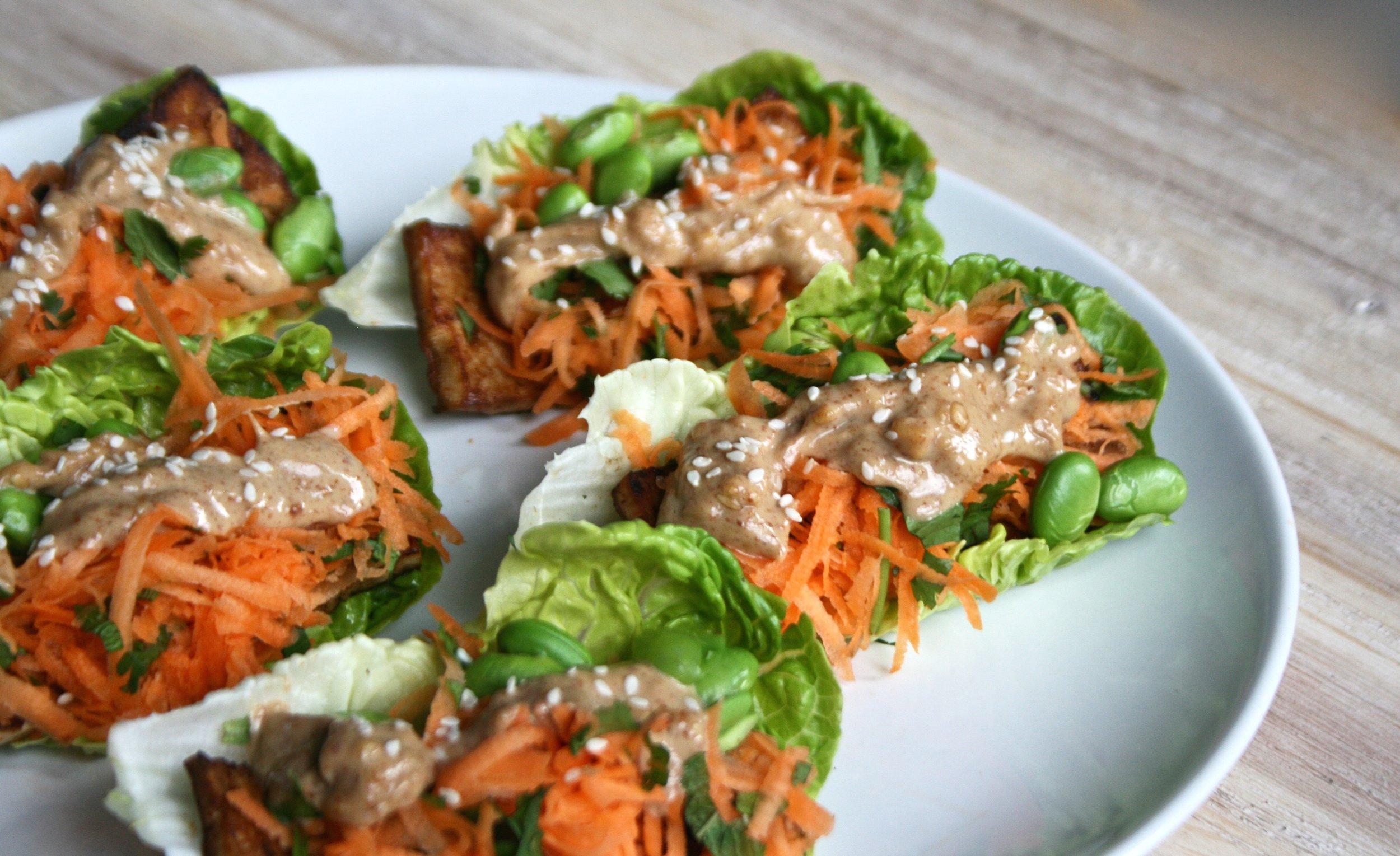 Satay Tofu Wraps | The Herb Diaries