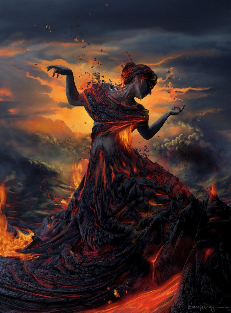 Elements – Fire by Cathrine Langwagen