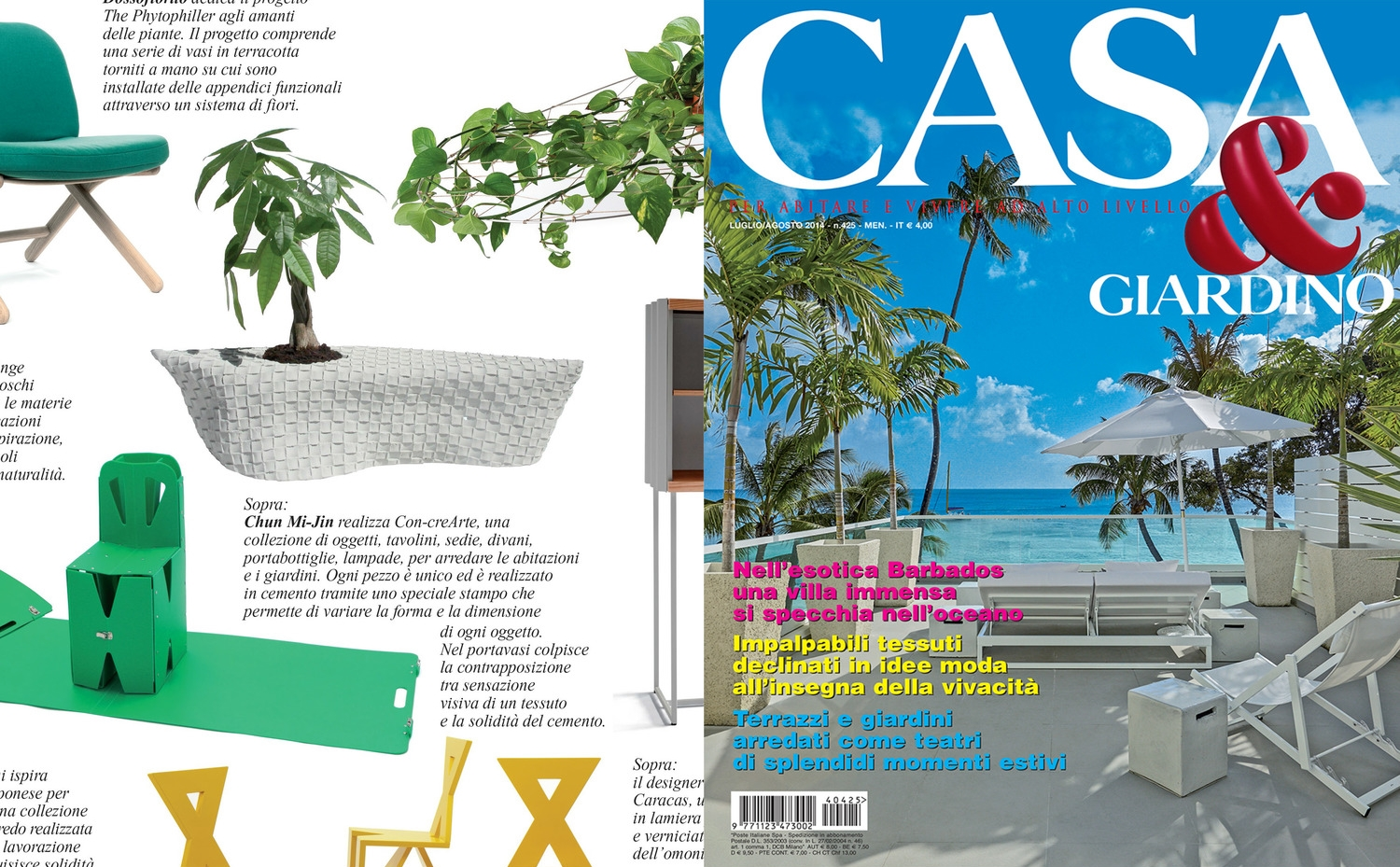 Casa & Giardino (July/August, 2014 issue)