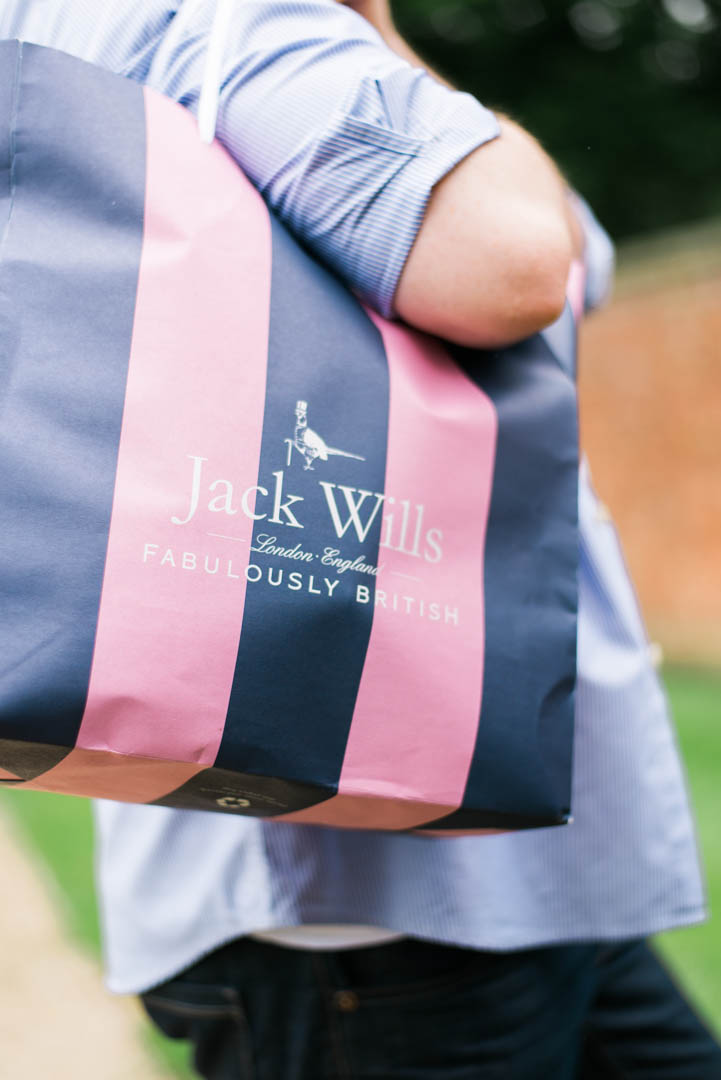 A Young Man Carrying a Jack Wills Bag.