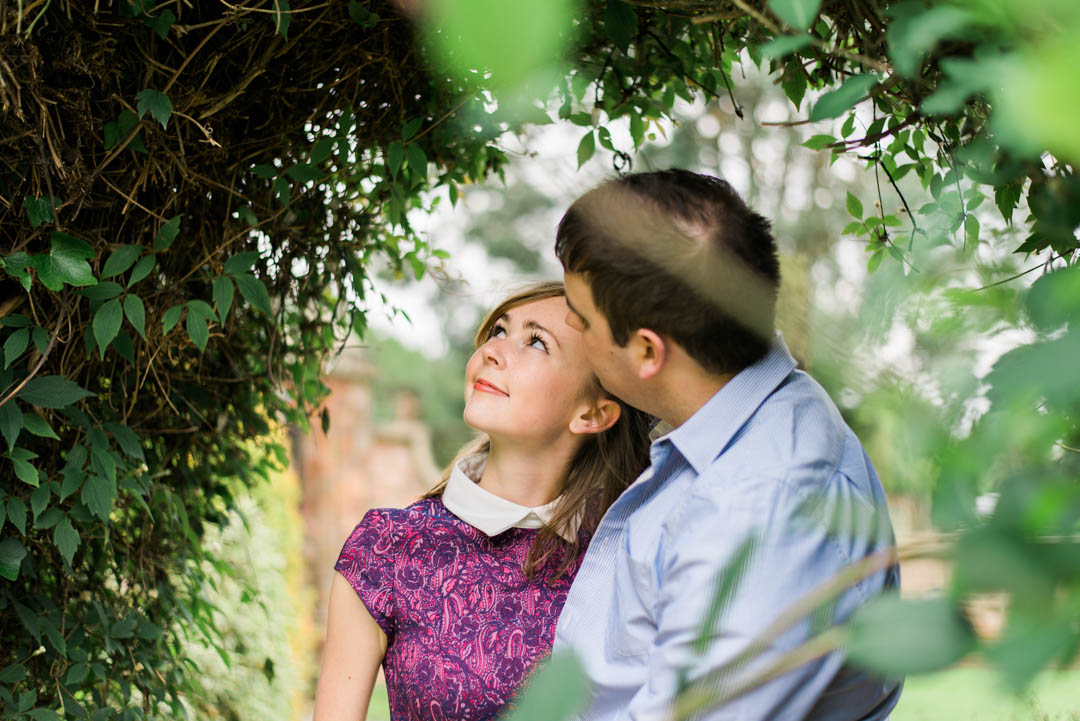 An Engaged Couple spending some time in the gardens at inglewood manor