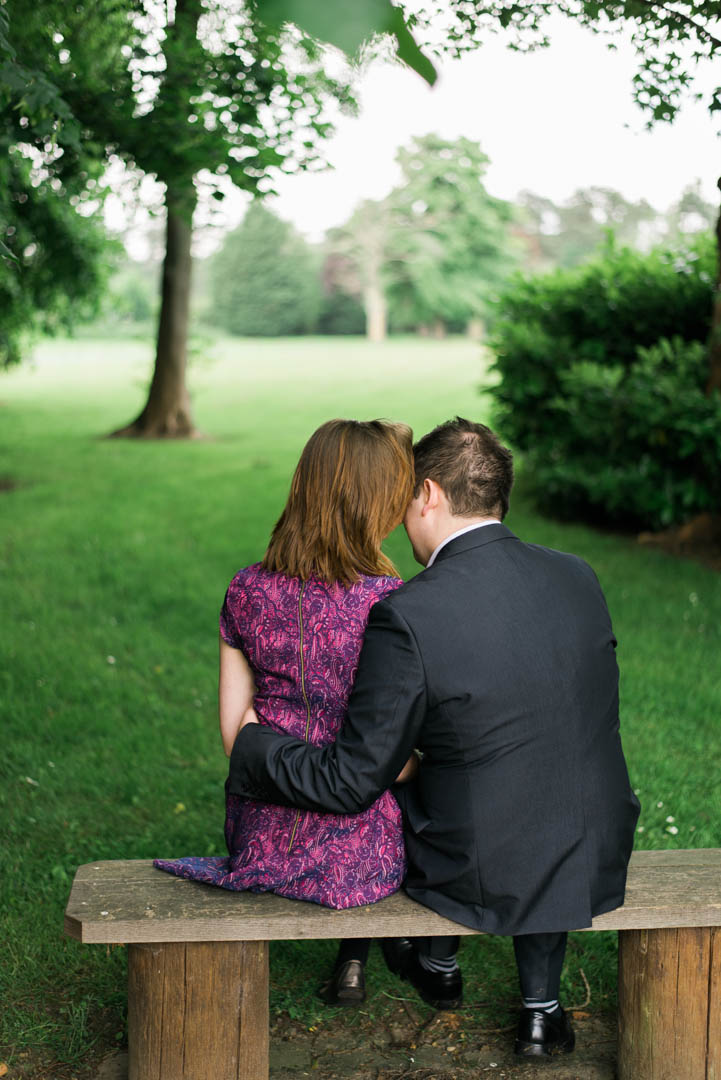 A Couple Sit in the Grounds of Inglewood Manor