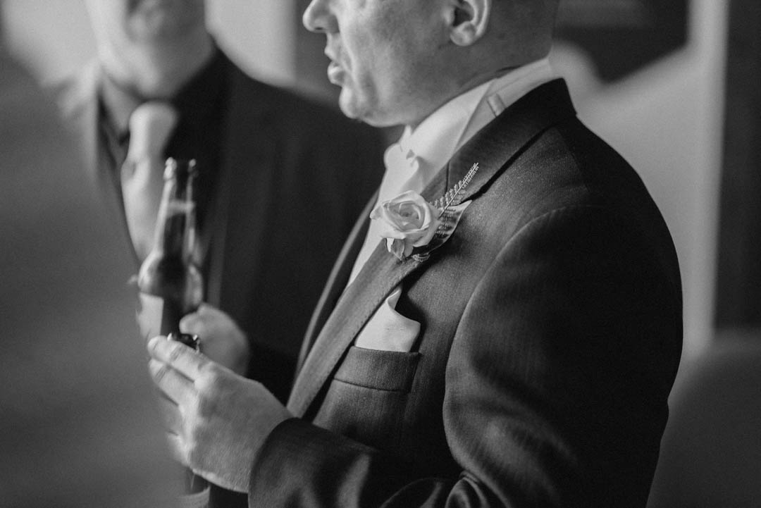 Details of the groom's suit at Ordsall Hall Wedding Venue